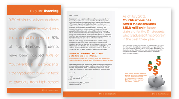 Annual Report and tri-fold self-mailer brochure
